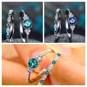 S.925 Gemstone ring sets